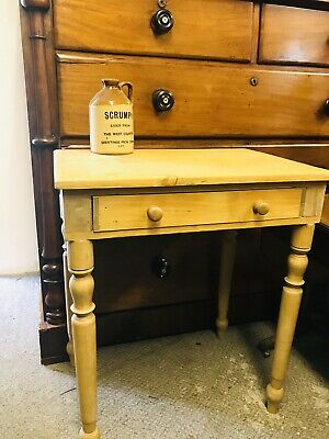 Antique pine Rustic Side Kitchen Occasional Table farmhouse Vintage