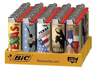 BIC Special Edition Texas Series Lighters, 50-Count Tray