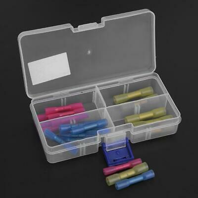22x Sleeve Seal Heat Shrink Terminal Electrical Butt Wire Terminal Connector Kit