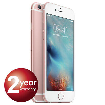 New Apple iPhone 6s 64GB Rose Gold 2 Year Warranty Unlocked SIM Free Smartphone