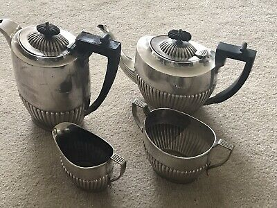 Vintage Silver Plated Hand Soldered EPNS Sheffield 4 Piece Coffee/Tea Set