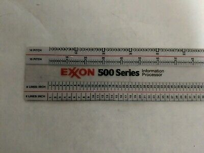 Exxon 500 Series Information Processor Scales Ruler S9418
