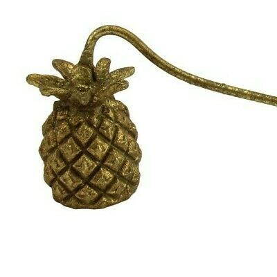 Old Gold Metal Candle Snuffer Handle Fire Extinguisher Pineapple Gisela Graham