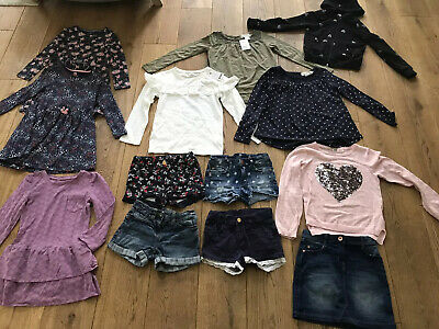 Large Bundle of Girls Clothes Age 6 - 7 - 8 years from NEXT / H&M etc