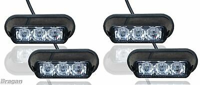 4 x White Strobe Flashing LED Lights Breakdown Recovery Lorry Truck Lamps