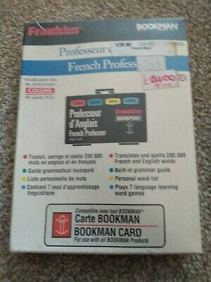 Franklin Bookman Bookcard - French-English Dictionary - Bqf-2025 - Boxed, Sealed