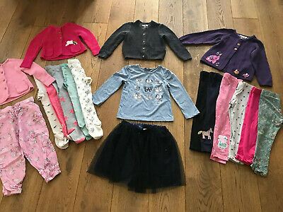 Bundle Of Girls Clothes Age 3-4 years incl M&S Cardigans, Leggings & Tights