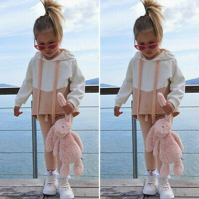 Toddler Baby Girl Winter Clothes Hooded Tops Long Pants Tracksuit Outfits Set LO