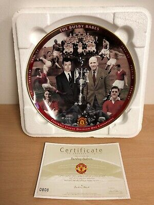 "1x MANCHESTER UNITED 12/"" PLATE PLAQUE MOSCOW 2008 BY DANBURY MINT RETAIL £70 New"
