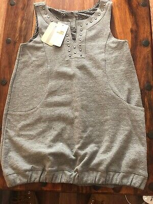 BNWT Mayoral Girls Grey Studded Casual Dress Age 14 Years