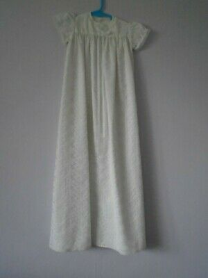 Babies Vintage hand made 1960's nylon christening gown