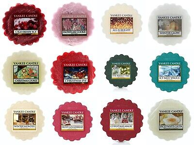 10 x Yankee Candle Wax Melt Tarts - 10 Different  Christmas Fragrances