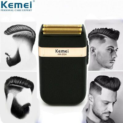 Kemei Electric Shaver for Men Twin Blade Waterproof Reciprocating Cordless