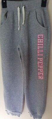 Girls Lovely Grey Chilli Pepper Jogging Bottoms Size 12-13 Years Excellent Cond!