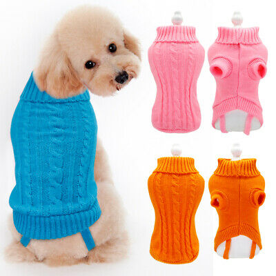Small Dog Sweater Chihuahua Clothes Knit Warm Puppy Coat Jumper for Yorkie XXS-M