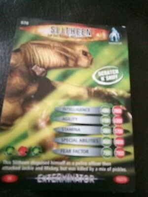 dr who battles in time exterminator card number 70 slitheen