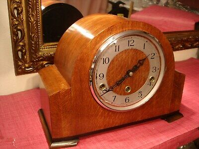 Magnificent,English Oak cased,Westminster Chiming,mantel clock. Superb Condition