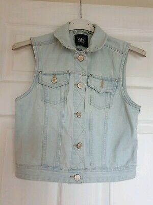Excellent Condition New Look Generation Denim Gilet Age 12-13 Years