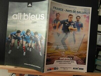 2013 france v wales   rugby union programme