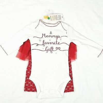 NEW Carters Girls Outfit Newborn Christmas Mommys Favorite Gift Red White 2 Pc
