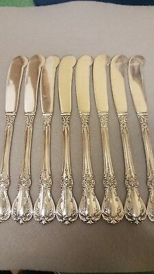 Beautiful Towle OLD MASTER Solid BLADE Sterling Silver SET 8 BUTTER KNIVES C12