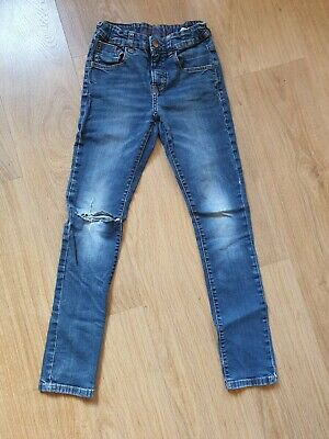 Zara boys blue jeans with ripped knee age 11-12 years skinny fit