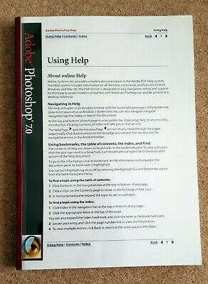 Photoshop 7  Original User Guide from Adobe professional binding