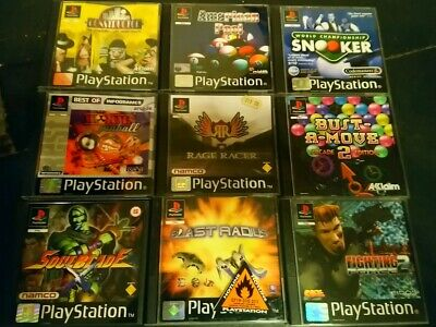 9 Boxed Ps1 Game Bundle / Job Lot / Collection & 3 Disc Only Games~Playstation