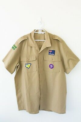 Boy Scouts Australian Collectable Shirt Size Unknown With Patches NSW
