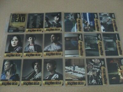 WALKING DEAD season 1 trading card base set