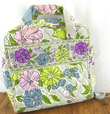 NWOT Vera Bradley Watercolor Floral Gray Travel Organizer Tech Case Cosmetic