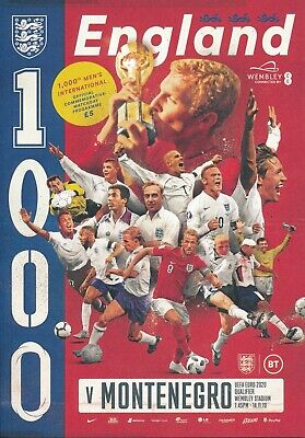 ENGLAND v Montenegro (Euro 2020 Qualifier) 2019 -  The Three Lions 1,000th game!