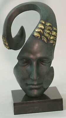 100% Sold Bronze Sculpture Titled Sorrow by Salvador Dali Marble Base Lost Wax