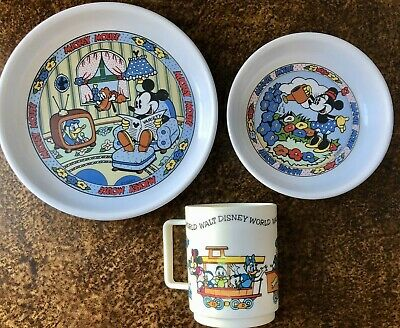 Disney Mickey Mouse Children's Melamine Plate Bowl Cup Toddler