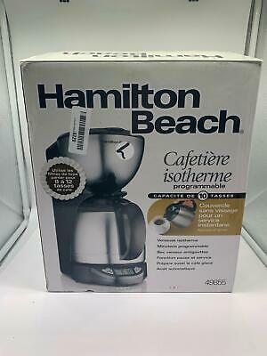 Hamilton Beach 49855 10-Cup Coffee Maker, Programmable Thermal Insulated Carafe