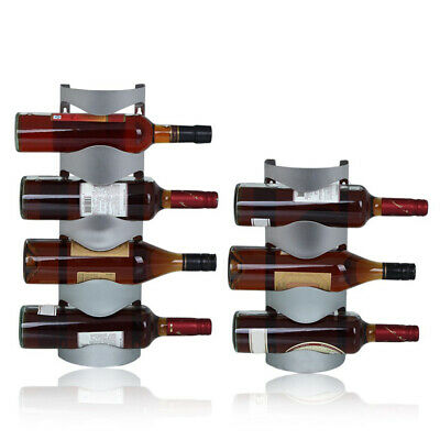 Wall Hanging Wine Rack Stand Suspension Home Bar Stainless Steel Storage Kitchen