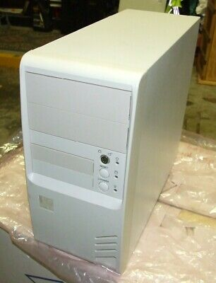 NOS vintage mini-tower AT computer case from the late 1990s - Like New
