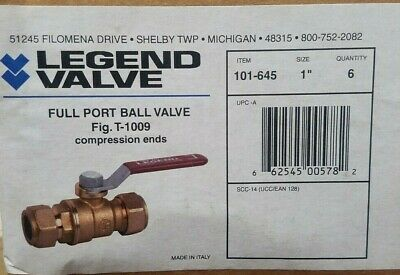 "Legend Valve Standard Ball Valve 1//4/"" Pipe Standard Port SS QTY 2 113-121"