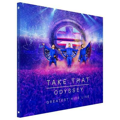 Take That - Odyssey Greatest Hits Live - New 2CD/Blu-ray/DVD - Hard Cover Book