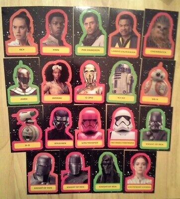 Topps Star Wars Journey to The Rise of Skywalker Character Sticker set