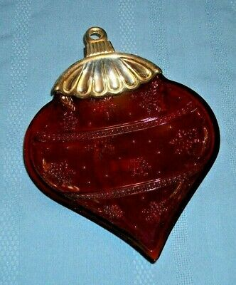 Towle Silversmith Silver Plated Bowl / Candy Dish Ruby Red Glass Ornament