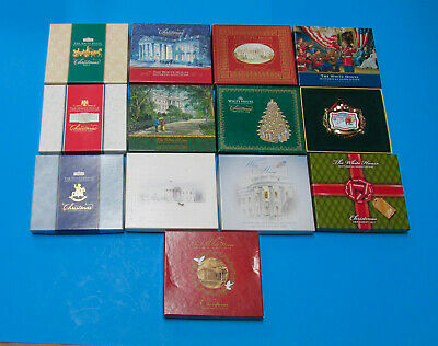 White House Historical Assoc Christmas Ornaments Lot of 13 / Years 2001 to 2013