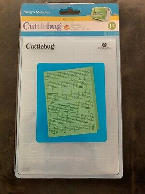 Cuttlebug Marg's Melodies Music Notes Embossing Folder