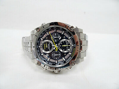 Bulova Precisionist Men's Quartz Chrono. Silver-Tone Watch 96B175 47mm P9/N3957