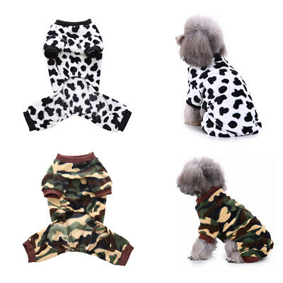 Cute Winter Dog Jumper Pet Clothes Sweater Pajamas For Small To Medium Dogs US