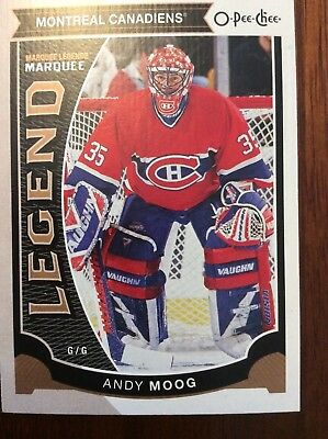 UPPER DECK O-Pee-Chee 2015-2016 MARQUEE LEGENDS ANDY MOOG HOCKEY CARD #555