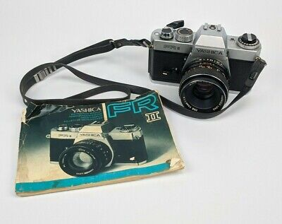 Yashica FR-II 35mm SLR Professional Film Camera w/ 50mm 1.9 Lens & Manual