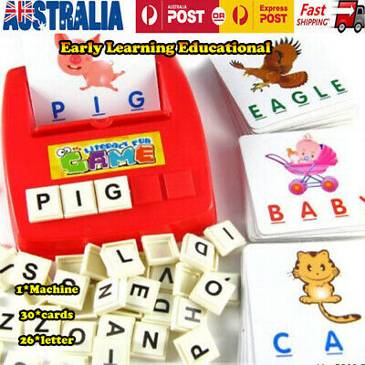 English Spelling Alphabet Montessori Letter Game Early Learning Educational Toy