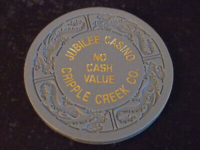 JUBILEE CASINO NO CASH VALUE hotel casino gaming poker chip ~ Cripple Creek, CO