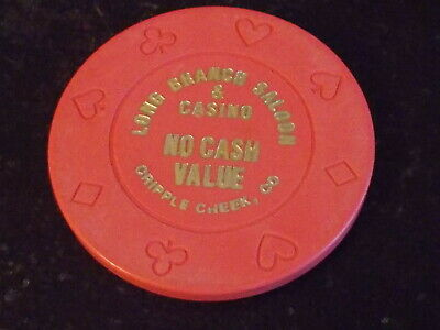 LONG BRANCH SALOON CASINO NO CASH VALUE hotel gaming poker chip ~Cripple Creek